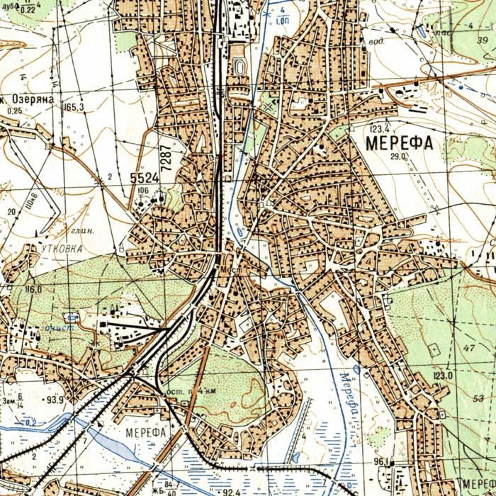 Карта Мерефы С Улицами